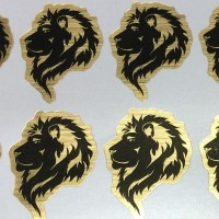 Metallic Golden PVC Sticker